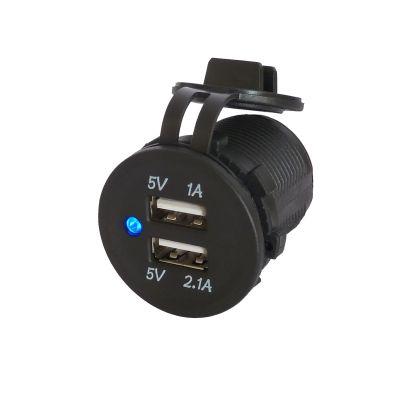 12V DC aansteker aansluiting Dubbel USB