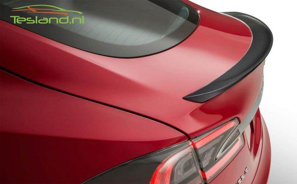 carbon back spoiler Tesla Model S detail | tesland.com