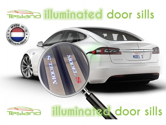 illuminated door sills Model S   tesland.com