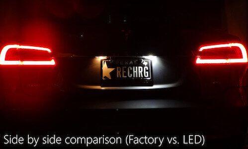 LED nummerplaat verlichting set Tesla Model S | tesland.com
