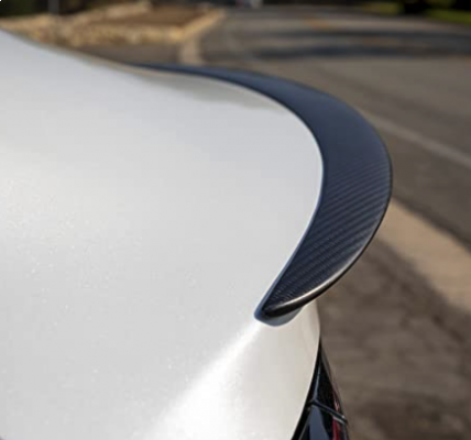Model 3 - Carbon achterspoiler - Vlakke originele stijl