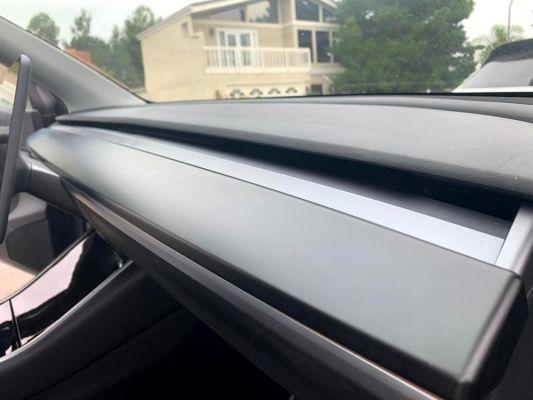 Model Y - ABS Dashboard paneel Afdekplaat mat zwart