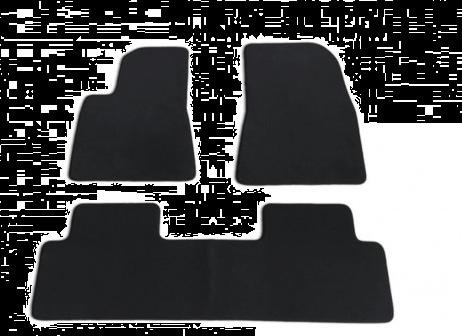 Model S - Interieur velours matten set Zwart