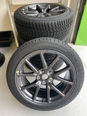 Set Winter wielen met  nieuwe Hankook winterbanden