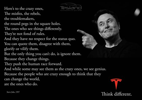 Poster Think Different Elon Musk