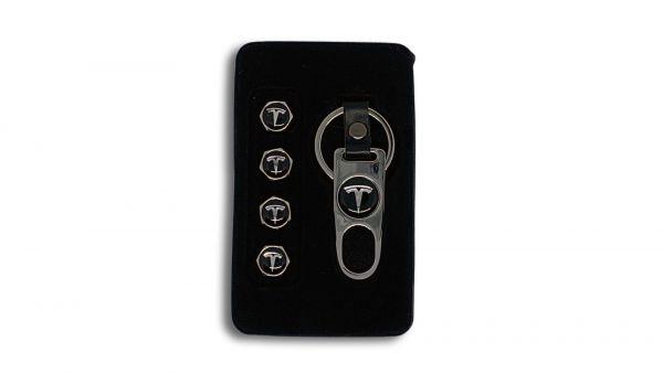Metal valve caps Tesla logo Chrome, tesland.com