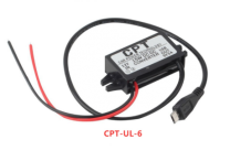 Constant powered micro USB cable with 12V adapter