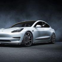 """Set Wielen""""Volt""""19"""" voor Tesla Model 3 met winterbanden en TPMS"""